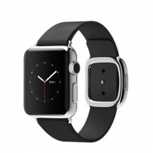 38mm Stainless Steel Case with Black Modern Buckle