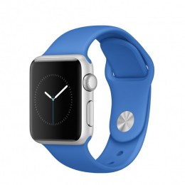 38mm Silver Aluminium Case with Royal Blue Sport Band