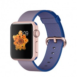 38mm Rose Gold Aluminium Case with Royal Blue Woven Nylon